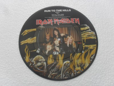 IRON MAIDEN - RUN TO THE HILLS - PICTURE (COMPACTO 7'')