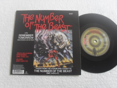 IRON MAIDEN - THE NUMBER OF THE BEAST (COMPACTO 7'')