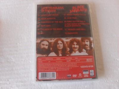 BLACK SABBATH - LIVE HEADLESS IN RUSSIA (DVD)